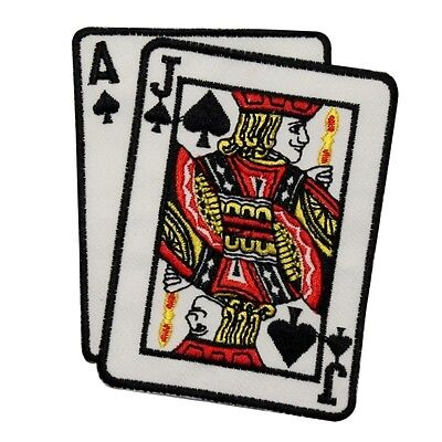 ID #0092 Casino Black Jack Card Hand Las Vegas Gambling Iron On Applique Patch