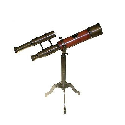Telescope on Brass Stand with Sights Fantastic Fathers Day or Birthday Gift
