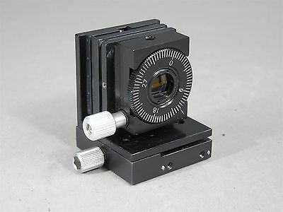Newport Miniature Stage Model 450 with Rotation Mount and Lens Laser Optics