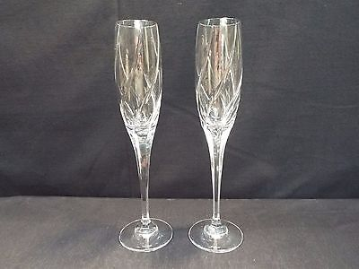 "/set of (2) Mikasa Olympus 10 6/8"" Fluted Champagnes w/Box"