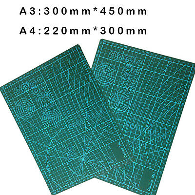 A3 A4 Pvc Rectangle Grid Lines Cutting Mat Tool Fabric Resin Paper Craft