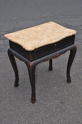 Niermann Weeks Lausanne Single Drawer Side Table With Faux Marble Top