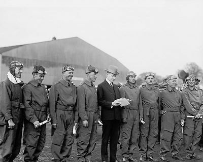 President Calvin Coolidge and Pan Am Flyers 11x14 Silver Halide Photo Print
