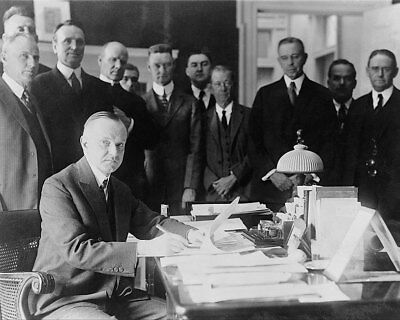 President Calvin Coolidge Signing Cameron Bill 11x14 Silver Halide Photo Print