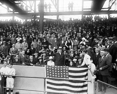 President Coolidge Throws Baseball World Series 8x10 Silver Halide Photo Print