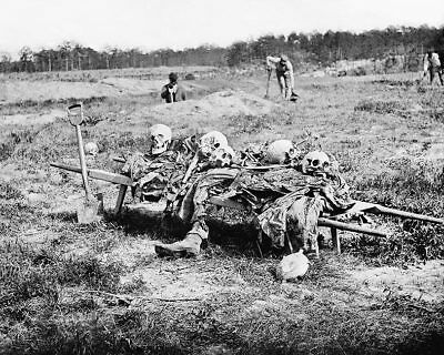 Remains Of The Dead At Cold Harbor Civil War 11x14 Silver Halide Photo Print