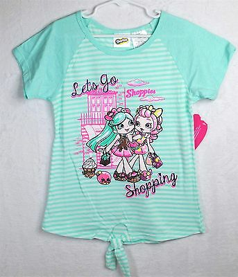 New SHOPKINS Girls Spring Summer SHOPPIES Shirt Top Sz 10-12 Large