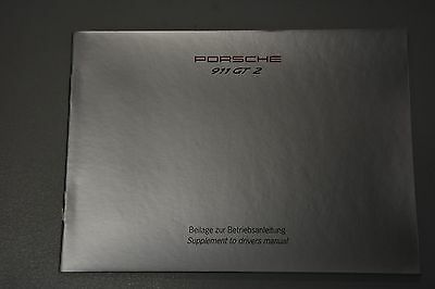 Factory Porsche 911 993 GT2 owners manual supplement package 1994 1995