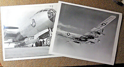 Vintage Lot of 2 Original USAF Bell Aircraft Corporation X-1A B/W Photographs