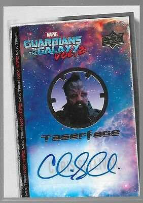 UD Guardians of the Galaxy Vol 2 Mix Tape Auto Chris Sullivan as Taserface MT13