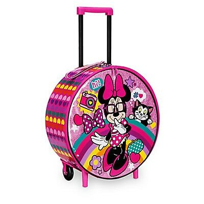 Disney Store MINNIE MOUSE Figaro Cat Rolling Suitcase Luggage Child Carry On Bag