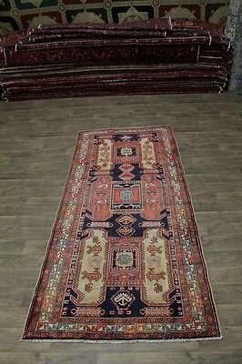 Geometric Semi Antique Runner Meshkin Persian Rug Oriental Area Carpet 4'6X10'