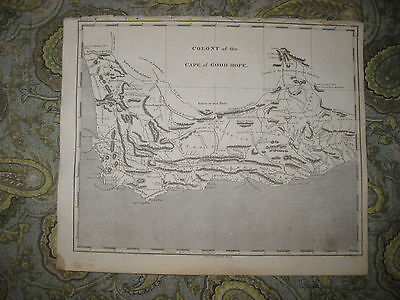 Antique 1805 Colony Of The Cape Of Good Hope South Africa Copperplate Map Barrow