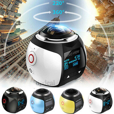 360 Degree Wifi 4K HD Ultra Panoramic Sport Camera Action Dash Driving VR Camera