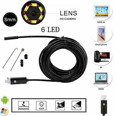 2IN1 Endoscope 1080P HD Camera Borescope  Waterproof IP67 Inspection Android PC