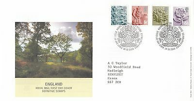 (01203) GB England FDC 68p E 1st 2nd Tallents 14 October 2003