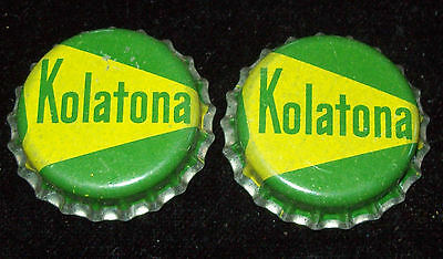Lot of 2 Vintage 1950's Kolatona Unused Soda Pop Bottle Caps Cork Lined