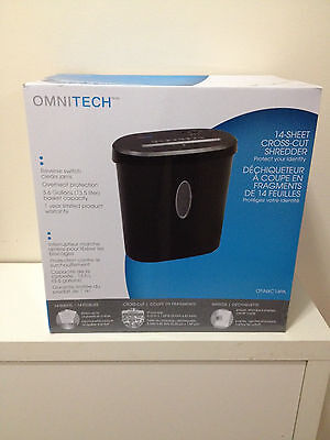 Brand New Omnitech 14-Sheet Cross-Cut Shredder Model: OT-NXC14PA NIB