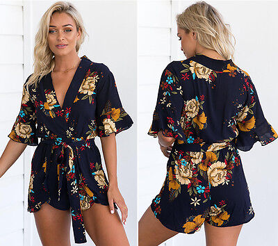 2017Women Ladies Clubwear V Neck Playsuit Bodycon Party Jumpsuit&Romper Trousers