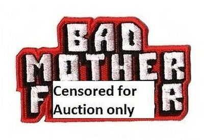 Pulp Fiction Bad Mutter Fu er bestickt Patch Aufbügeln TV memorobilia