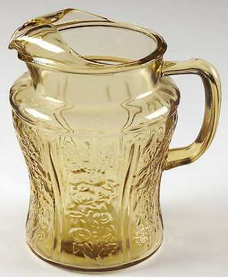 Federal Glass Company SHARON AMBER 80 Oz Ice Lipped Pitcher 7265061