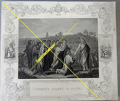 Stich: Christ`s Charge to Peter um 1880 (24786)