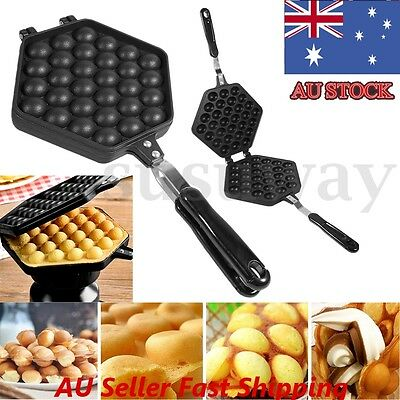 Nonstick  DIY Egg Waffle Bubble Eggettes Iron Pan Baking Mold Plate Kitchen Tool