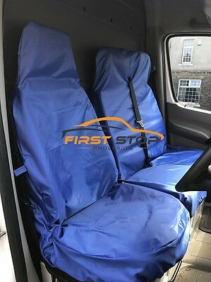 Peugeot Expert 07-On Hdi Heavy Duty Blue Waterproof Van Seat Covers 2+1