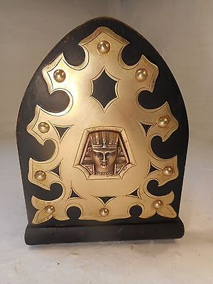 Antique Egypt Motif  Extending Book Slide , Pharoah , Book Ends      ref 2981