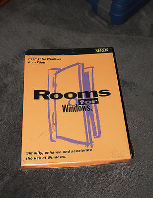 ROOMS FOR WINDOWS in box Collectable software XEROX XSOFT XPARC Shrinkwrapped!