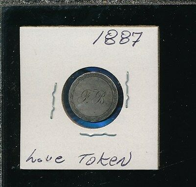 Seated Dime 1887 - Love Token - Vintage Charm - Engraved