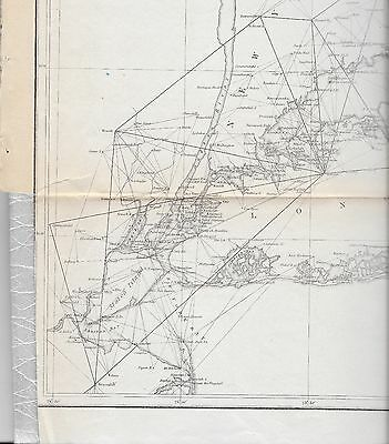 1851 Original Map Super. Of Us Coast Survey Long Island Nyc Connecticut Atlantic
