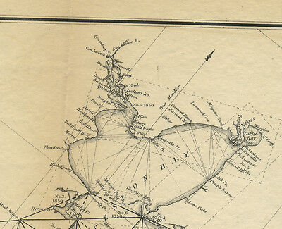 1851 ORIGINAL MAP FROM Superintendent of US COAST SURVEY GALVESTON BAY  ETC