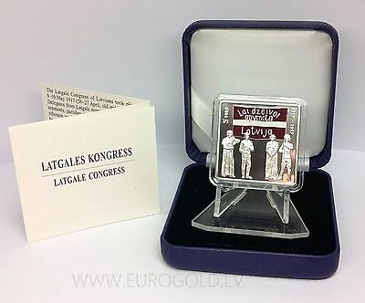 Latvia 5 euro 2017 Latgale Congress silver proof collector coin Low mintage