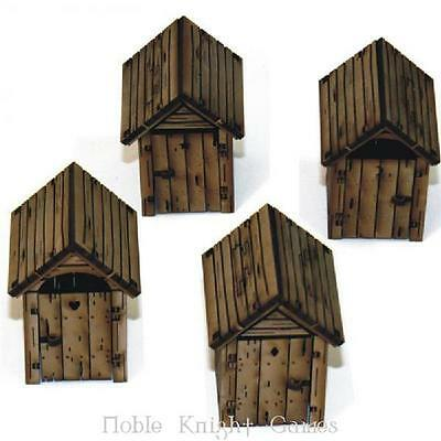 4Ground 28mm Ruins & Obstacles Thunderbox Privies (Pre-Painted) Pack MINT