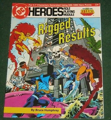 DC HEROES RIGGED RESULTS Role Playing Module 229 The New Teen Titans RPG