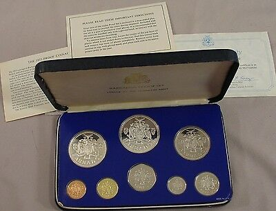 Sterling 1975 Barbados 8 coin Proof Set KM# PS3