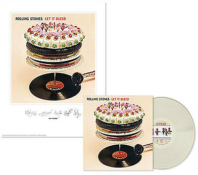 The Rolling Stones - Let It Bleed clear vinyl LP +numbered lithograph.New/sealed