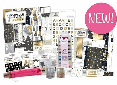 *OFFER* ElementsMetallic Papermania Capsule Foiled Paper Card Craft Collection