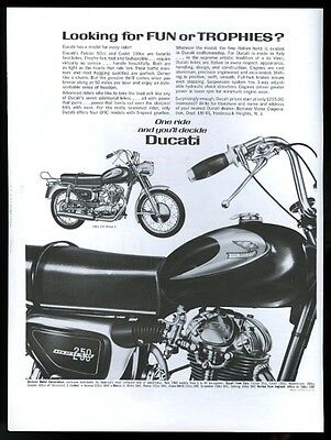 1965 Ducati 250 Monza 160 2 motorcycle photo vintage print ad