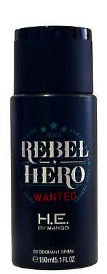 REBEL HERO WANTED de MANGO - Desodorante / Deodorant Spray 150 mL - Hombre / Man