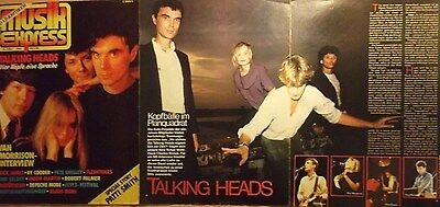 3 german clipping TALKING HEADS N. SHIRTLESS ROCK WAVE POP BAND BOYS GROUP 1982