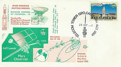 1992 Mars Observer Mapping Mission Spacecraft Launch Canberra Australia 28 Sept