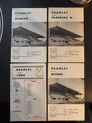 4 Bramley Rugby League Programmes 1970S