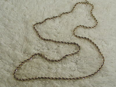 """24"""" Sterling Silver Twisted Chain Necklace (A10)"""
