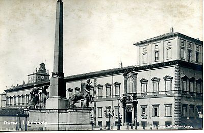 Quirinale Palace-President Home-Rome-Roma-Italy-RPPC-Vintage Real Photo Postcard