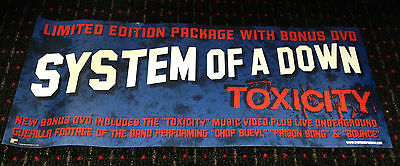 SYSTEM OF A DOWN Toxicity 10x24 original record store display promo poster