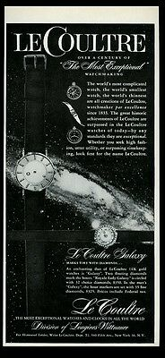1958 Jaeger-LeCoultre Galaxy watch photo vintage print ad