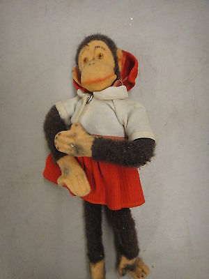 vintage monkey doll, has wear but nice doll
