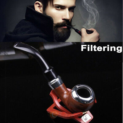 Durable Solid Wood Wooden Smoking Pipe Tobacco Cigarettes Cigar Pipes Gift New